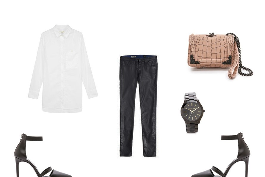 shopbop, mcqueen, white shirt, leather pants, melbourne fashion, fashion blogger